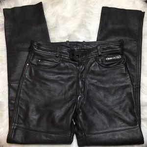 Harley Davidson Black Leather Motorcycle Pants